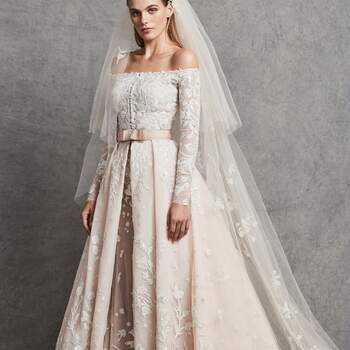 Carolina with coat & veil, Zuhair Murad