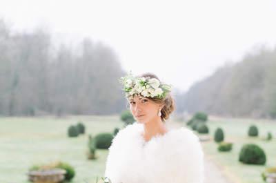 Une inspiration or et émeraude pour un mariage vintage en hiver