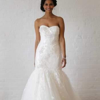 Romantique à souhait. Crédit photo : Robe de mariée David´s Bridal 2013  New York Bridal Fashion Week, printemps 2013.