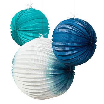 Esfera de papel para iluminar mar 3 unidades- Compra en The Wedding Shop