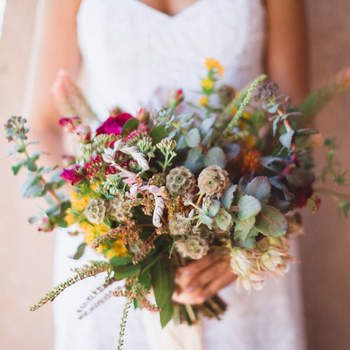 Bouquet de mariée fleurs multicolores Studio Castillero