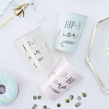 Vasos Hooray 8 unidades- Compra en The Wedding Shop