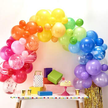 Arco de globos arco iris 85 unidades- Compra en The Wedding Shop