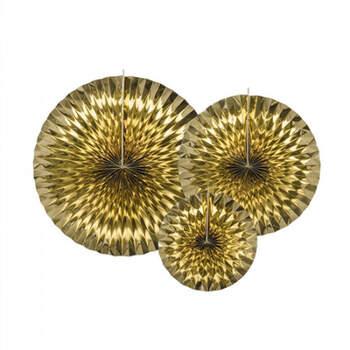 Rosetas decorativas de oro 3 piezas- Compra en The Wedding Shop