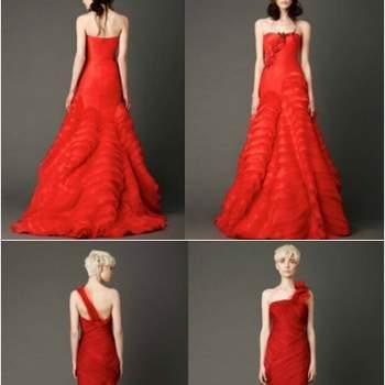 Vera Wang é o nome mais rapidamente associado aos vestidos de noiva vermelhos para as noivas de 2013. Mas a verdade é que a tendência não se fica por esta colecção.