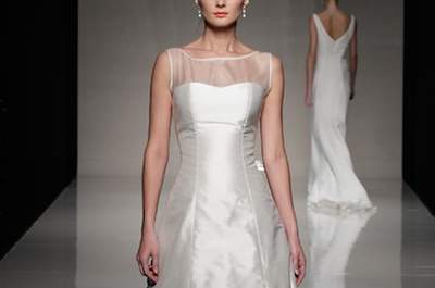 Kate Middleton wedding dress style - lace and illusion necklines