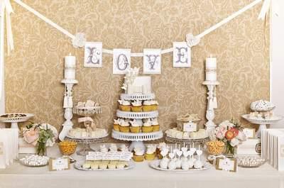 Buffet de desserts, gourmandises et friandises au programme, le jour du mariage !