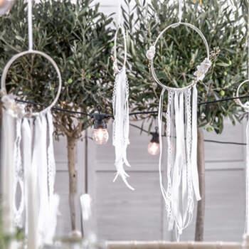 Atrapasueños decorativos blancos 3 unidades - Compra en The Wedding Shop