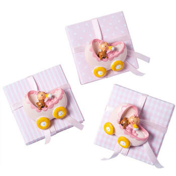 Caja con calamita cuna rosa 3 unidades - Compra en The Wedding Shop