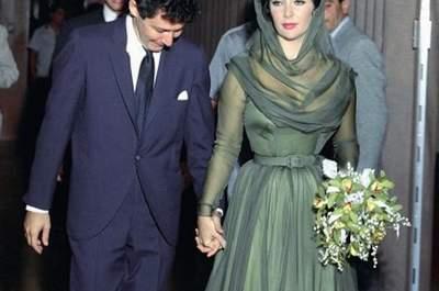 Os vestidos de noiva cheios de cor das famosas