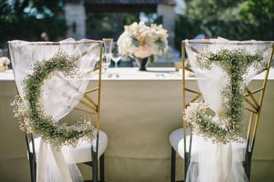 Estas son las ideas más increíbles para decorar las sillas en tu boda 2016
