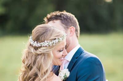 Hoofdsieraden met bloemen voor de bruid van 2017