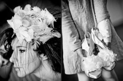 Una sposa eclettica magnetizza gli sguardi, rendendo attitudine naturale anche un accessorio vistoso. Foto credits: Franco Milani