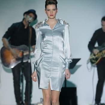 Vestido de festa corto de Isabel Zapardiez.