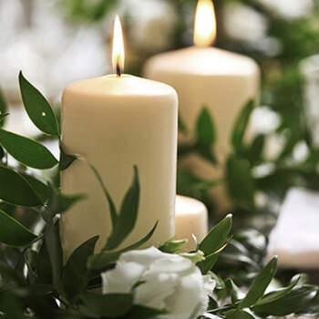 Vela decorativa marfil mediana 6 unidades- Compra en The Wedding Shop