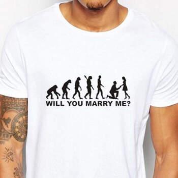 Camiseta ¿Te casas conmigo? hombre blanca- Compra en The Wedding Shop
