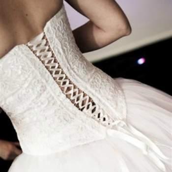 Robe de mariée Princess, Collection Mon Amour. Vue de dos. Crédit photo: Nathalie Elbaz Cleuet