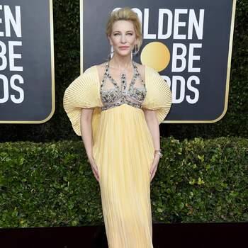 Cate Blanchett de Mary Katrantzou. Credits Cordon Press