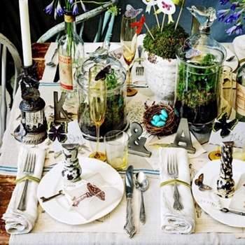 Diferentes elementos para decorar centros de mesa, inspírate en cada uno de ellos.