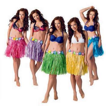 Faldas hawaianas de colores 5 unidades- Compra en The Wedding Shop