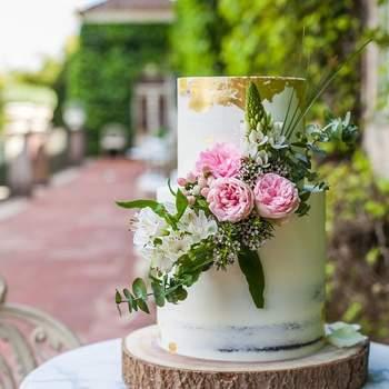 Inspiração para Bolos de casamento com flores naturais | Créditos: Açúcar À La Carte