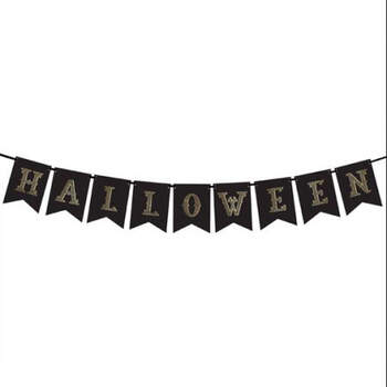 Banner de Halloween negro y dorado- Compra en The Wedding Shop