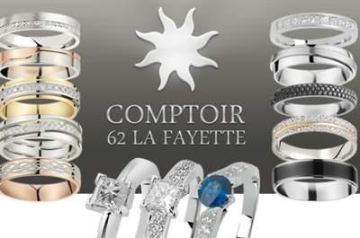 Comptoir 62 La Fayette : la référence pour vos alliances de mariage