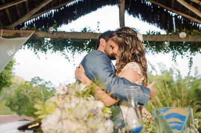 Casamento no campo de Isabel & Carlos Leonardo: rústico chique com decor em tons de verde e branco