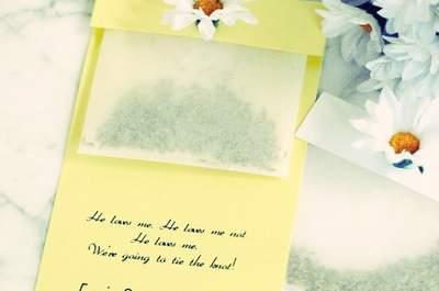 Hochzeits-Dekoration: Niedliche Gänseblümchen für das Bankett
