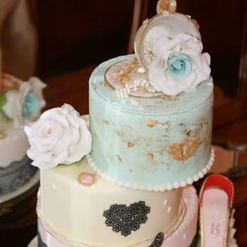 Inspiração para bolos de casamento diferentes e originais | Créditos: Pims Cake Design