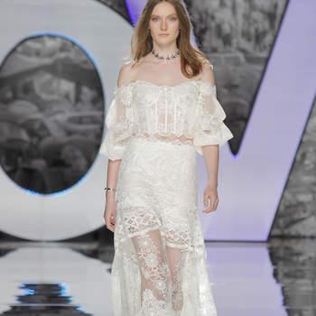 Vestidos de novia con hombros caídos: signo de distinción y elegancia