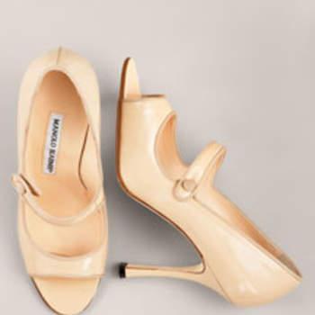 Escarpins à bride, de couleur nude Manolo Blahnik - Source : www.manoloblahnik.com