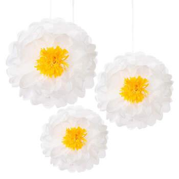 Margaritas decorativas en papel 3 unidades- Compra en The Wedding Shop