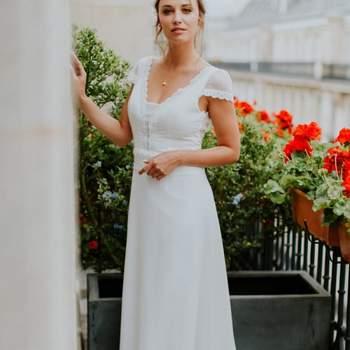 Robe de mariée la Parisienne modèle Florence - Crédit photo: Elsa Gary