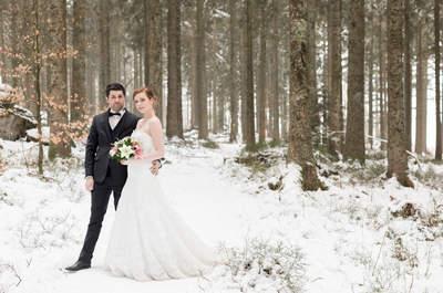 Une inspiration neige pour un mariage hivernal en Alsace