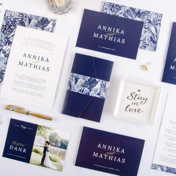 Hochzeitspapeterie Annika und Mathias