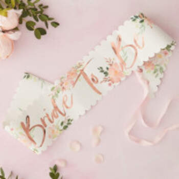 Echarpe Bride To Be Florale - The Wedding Shop !