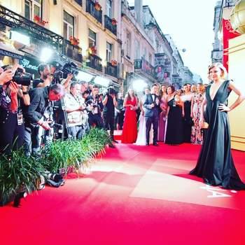 Vestido: NIZZA da Maison Flair por Janine Sena. Penteado: Griffehairstyle. Maquilhagem: Nana Benjamin. Foto via IG joanasolnadoficial