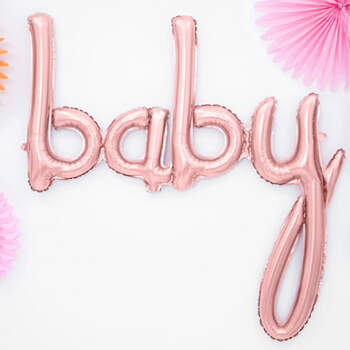 Globo baby rosa gold- Compra en The Wedding Shop