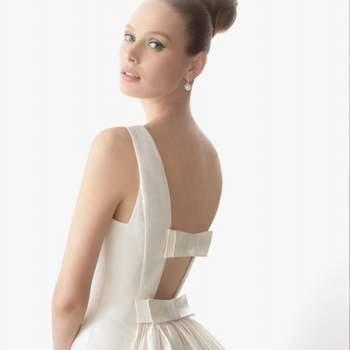 Rosa Clara Hochzeitskleid 2012, mit nackten Rücken-Schnürung und Doppel