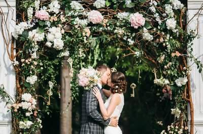 Таинственный сад: цветочная свадьба Екатерины и Олега