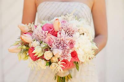 Sofisticados ramos de novia con tulipanes. ¡Te fascinarán!