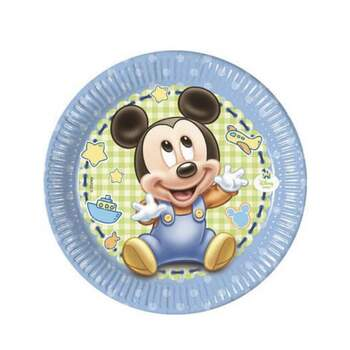 Assiette Petite Baby Mickey 8 Pièces - The Wedding Shop !