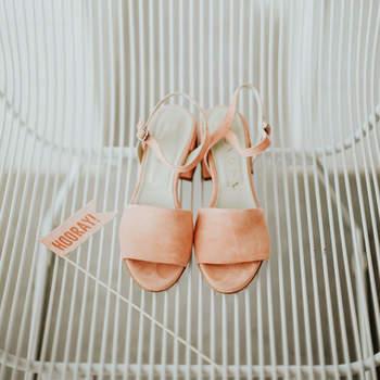 Chaussures de mariée nude Erin McCall