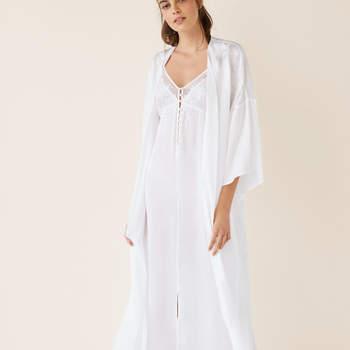 Robe comprido cetim noiva da Women'Secret