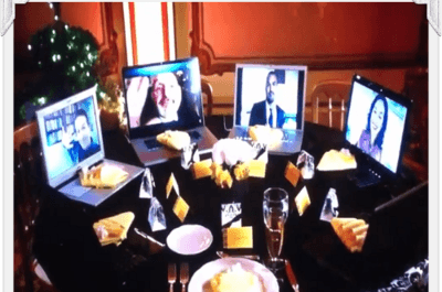 Nova tendência para casamentos: a mesa 'skype'
