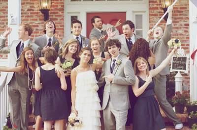 Ideias de vestidos e looks iguais para madrinhas de casamento