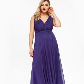 Credits: Scarlett Jo Purple Nancy Marilyn Chiffon Maxi Dress, Evans