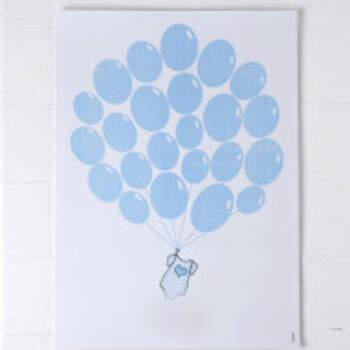 Livre d'or Ballons Bleu - The Wedding Shop !
