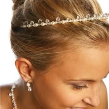 Diadème en gouttes de perles - Crédit photo: Princesse d'un jour